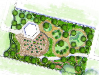 New RHS Wellbeing Garden Plan