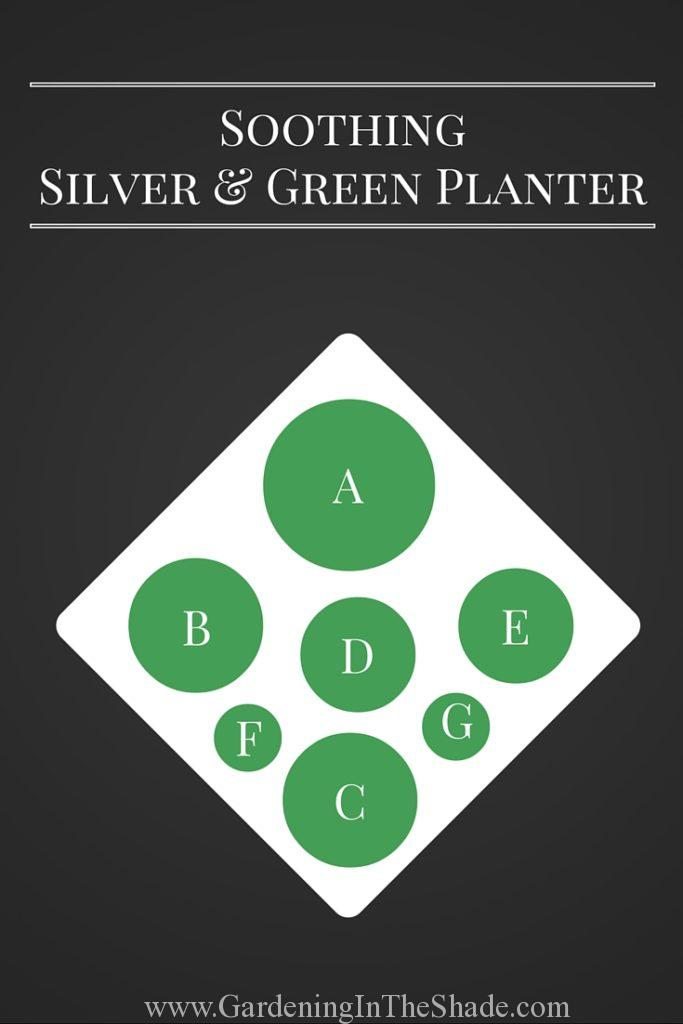 Silver and Green Planting Diagram