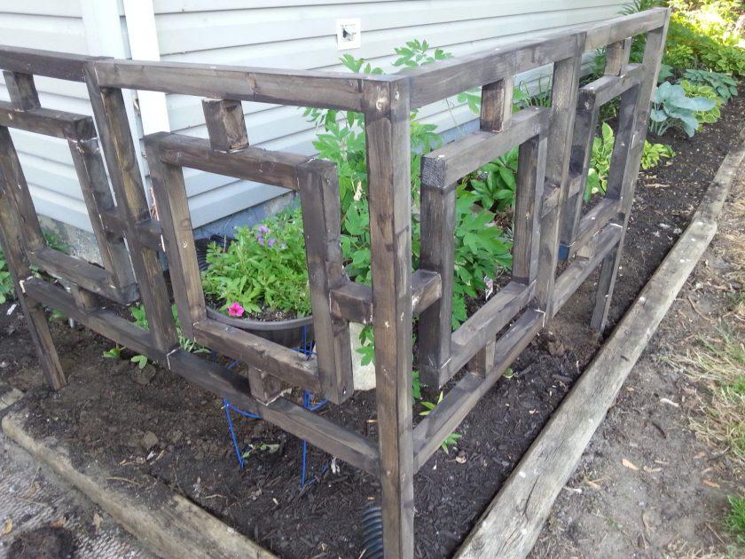 Fretwork Corner Garden Fence