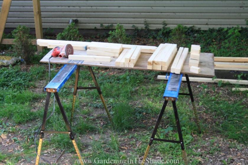 Fretwork Garden Fence Cut Lumber