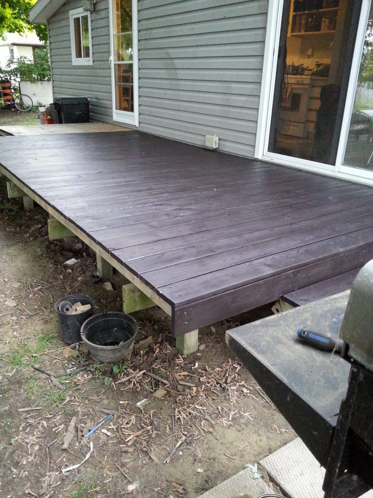 Black Stained Deck from Front Corner