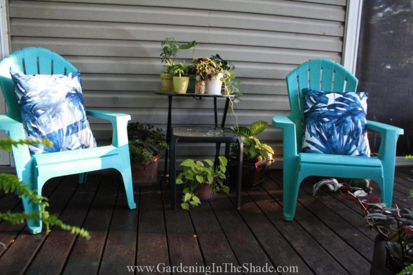 Chair Cushions on Deck
