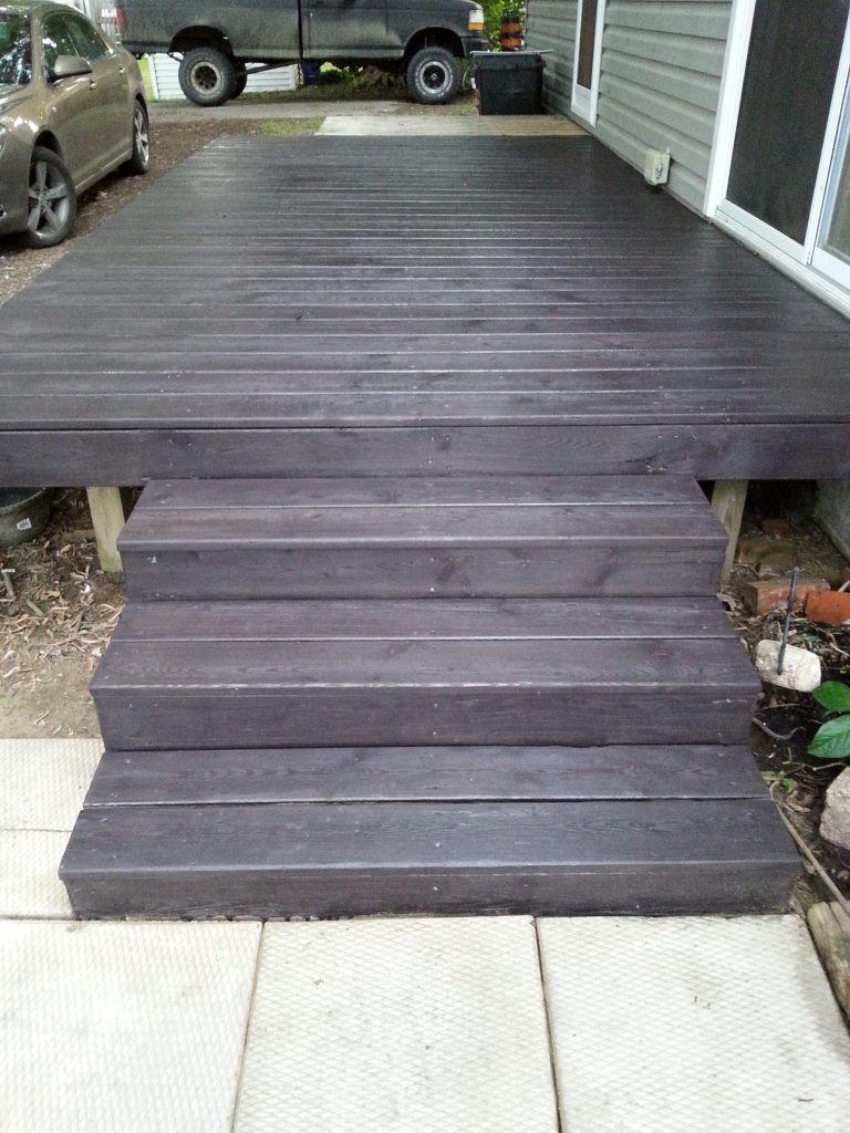 Deck Stained Black