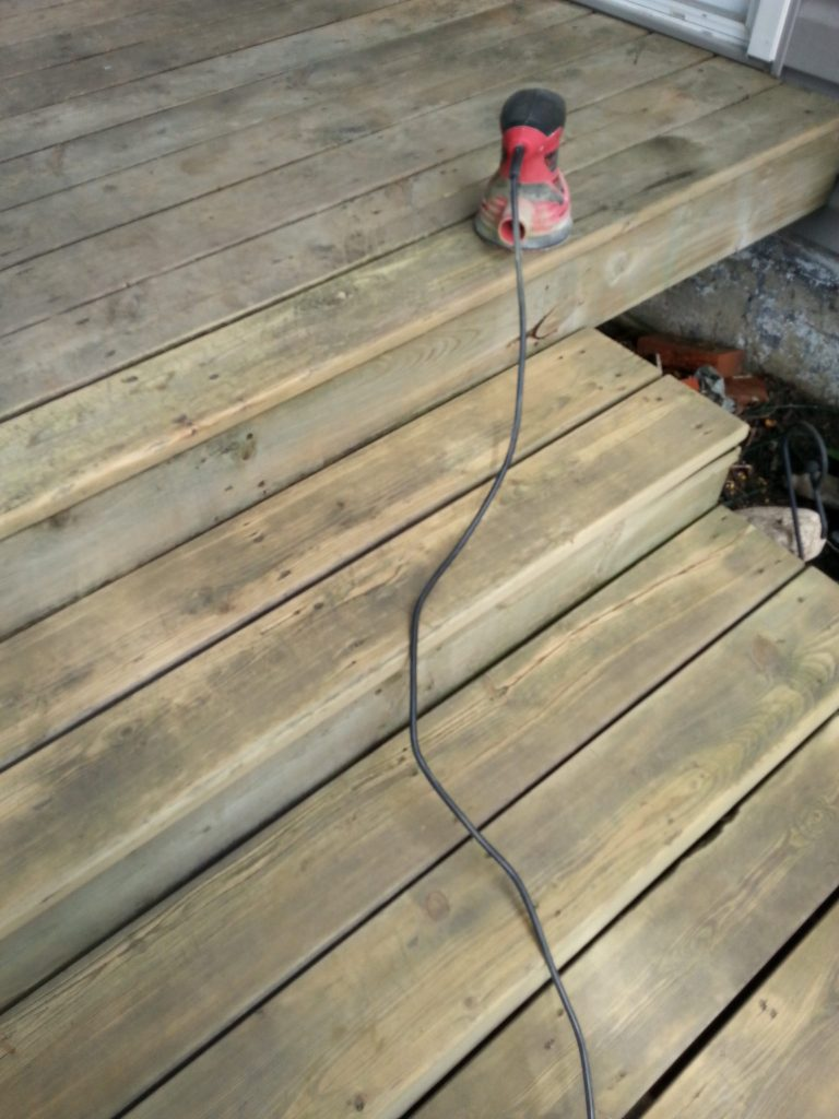 Getting Started - preparing to stain the deck