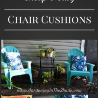 Cheap and Easy Outdoor Chair Cushions