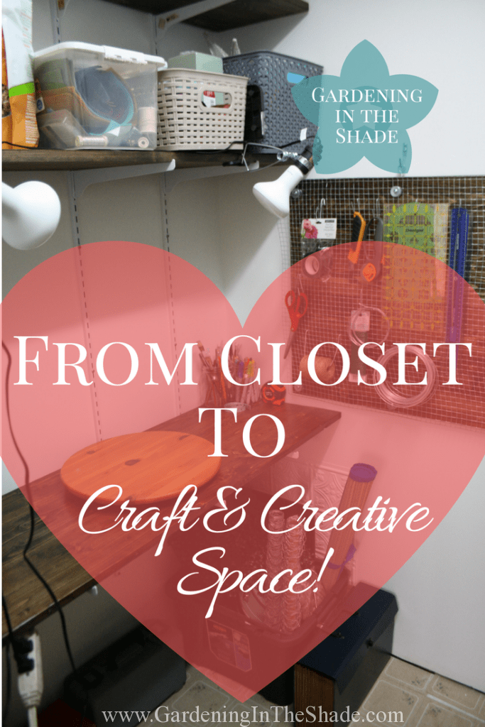 Finding creative space in a tiny house is hard! I transformed my closet into a functional craft space just for me.