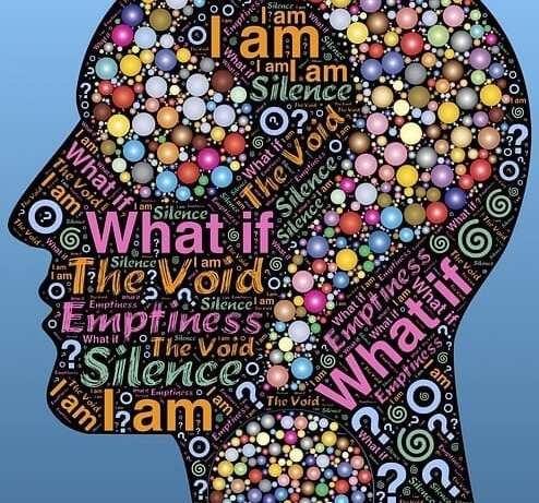 A head filled with words and thoughts, demonstrating the importance of why we should take time out.