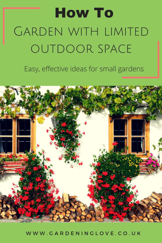 Small garden ideas. How to garden with limited outdoor space. Easy effective ideas for small gardens.