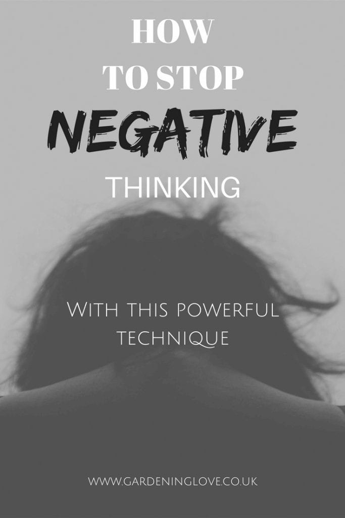 How to stop negative thinking with this one powerful technique. #negativethinking #positivity #positivethinking #mindfulness #selfcare