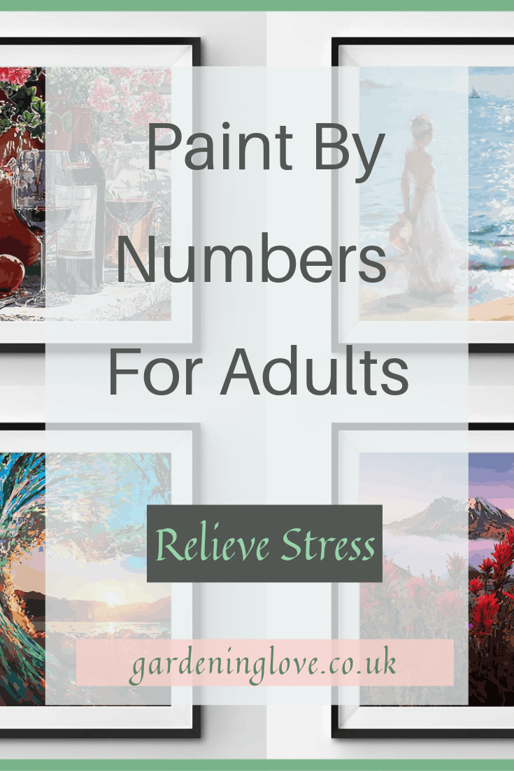 Paint by numbers for adults. Help to relieve stress with this therapeutic exercise. A creative, mindful activity for self care #paintbynumbers #paintbynumbersforadults #art #arttherapy #therapeutic #relaxation #stressrelief #mindfulness #selfcare #affiliate #affiliatelink