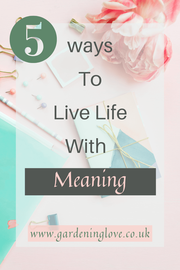 5 ways to live life with meaning. Discover inspiring ways to start living your best life today #bestlife #lifestyle #inspiration #lifegoals #lifehacks #liveyourbestlife #motivation