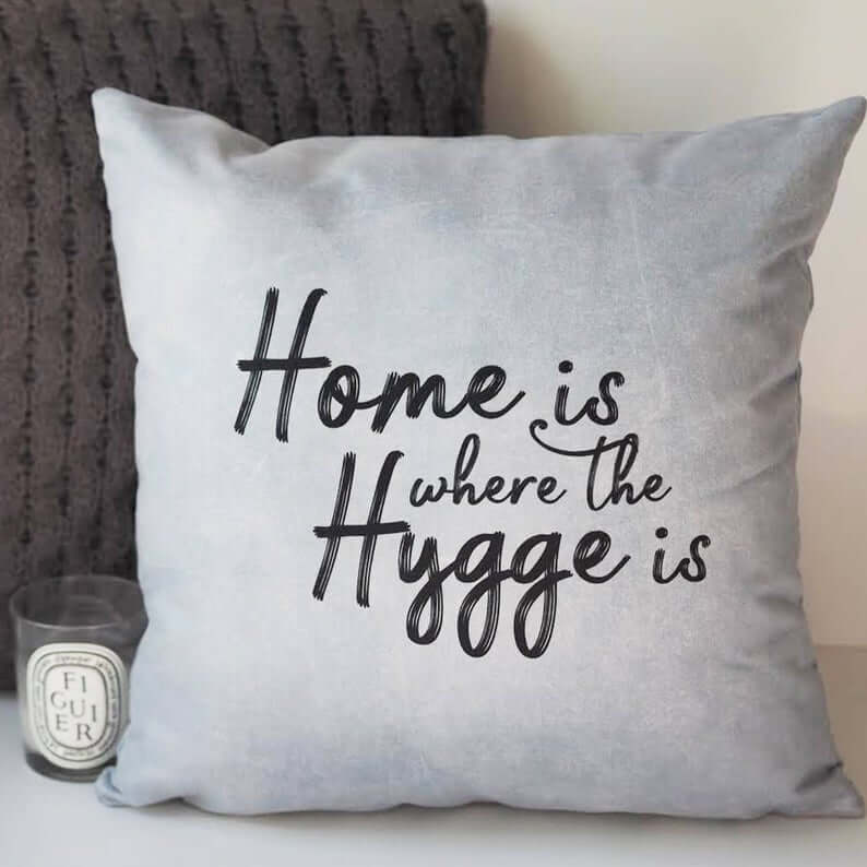 Home is where the higgle is cushion by Sweet Love Press on Etsy