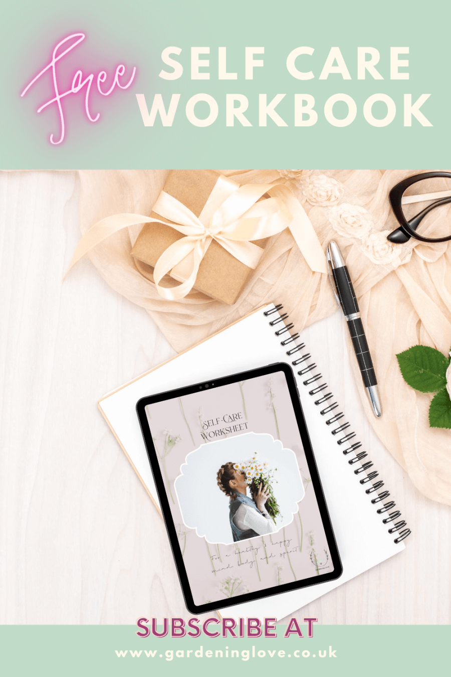 Free self care workbook, subscribe today for your free download link. #subscribe #free #opt-in #sign-up #newsletter #printable #digitaldownload