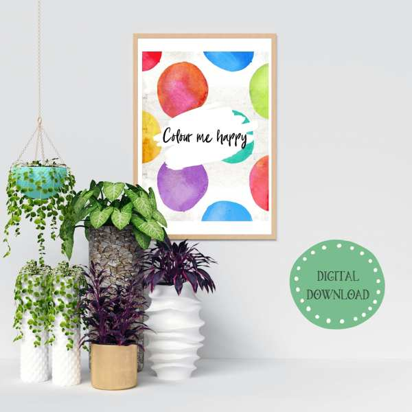 Colour Me Happy Instant Digital Download
