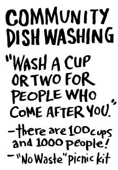 Community Dishwashing
