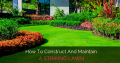 How To Construct And Maintain A Striking Lawn