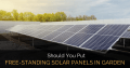 Should You Put Free-Standing Solar Panels Around Your Garden?
