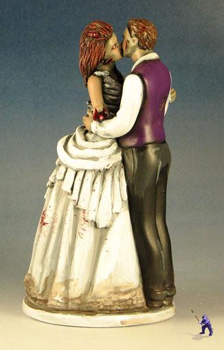 Dancing And Kissing Zombie Cake Toppers Garden Ninja Studios