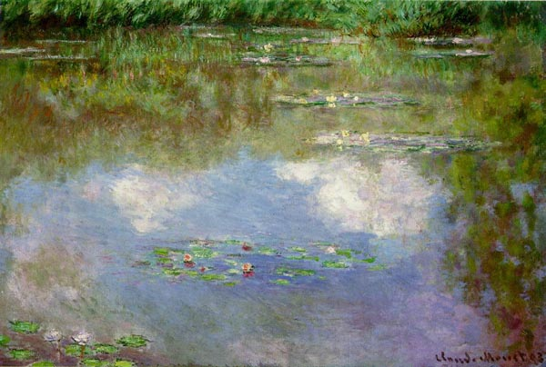 Water Lilies (The Clouds) Claude-Oscar Monet