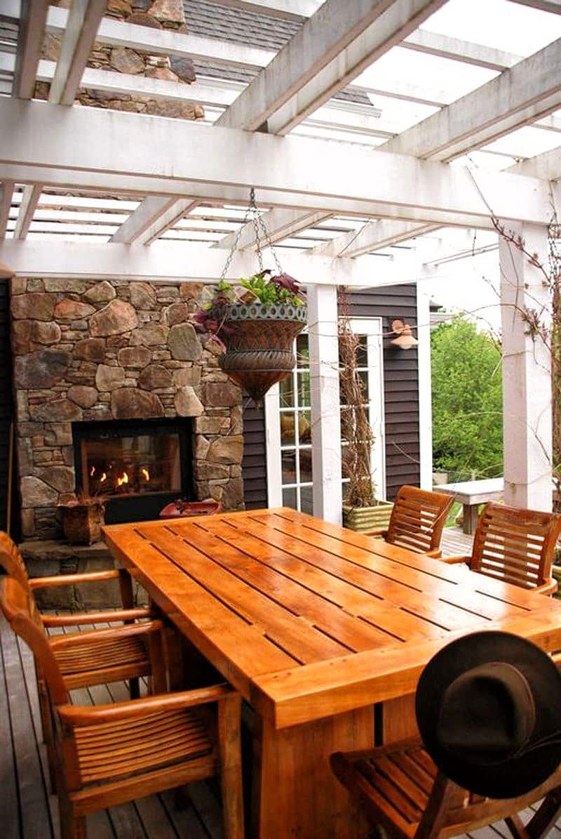27 Beautiful Attached Pergola Designs To Enjoy Your