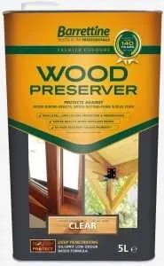 Coloured wood preserver.