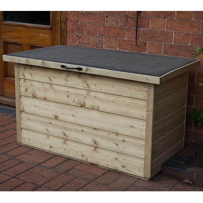 3 6 x 2 forest shiplap wooden garden storage chest outdoor patio storage box 1m x 0 55m