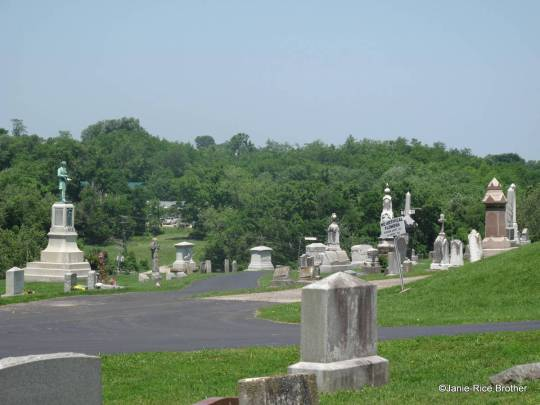High on a hill above town - Machpelah Cemetery, Mt. Sterling, Kentucky.