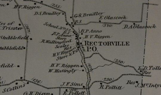 A detail of Rectorville in 1876.