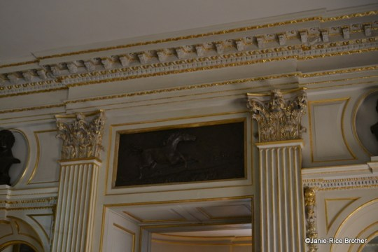 An example of the interior details partially conserved, mostly recreated, by craftsmen and women following the fire at Uppark.