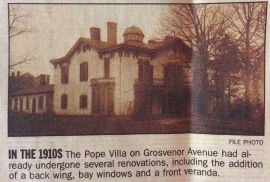 This image is from a story about the Pope Villa that ran in the April 1, 2001 edition of the Lexington-Herald Leader.