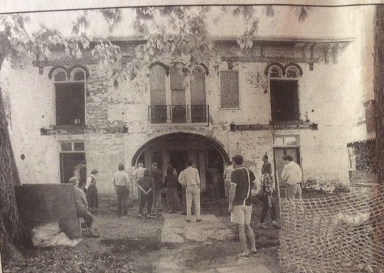 This image, from the same 2001 Lexington Herald-Leader article, shows the Pope Villa in 1991, four years after the fire.
