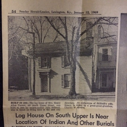 Wilkirson has owned two historic houses in two of Lexington's H-1 neighborhoods.