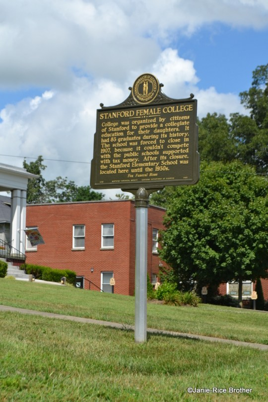 The new historic marker in Stanford, Kentucky.