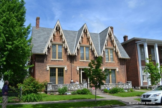 A fairly high-style example of a Gothic Revival house in Frankfort, Kentucky.