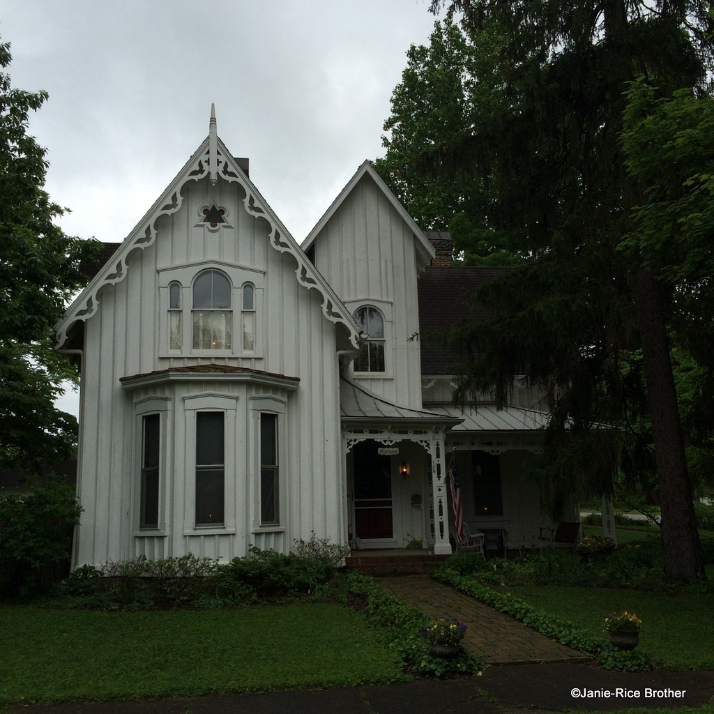The gothic revival style in kentucky gardens to gables for Gothic revival house plans
