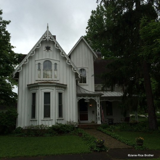 A Gothic Revival cottage in Midway, Woodford County, Kentucky.