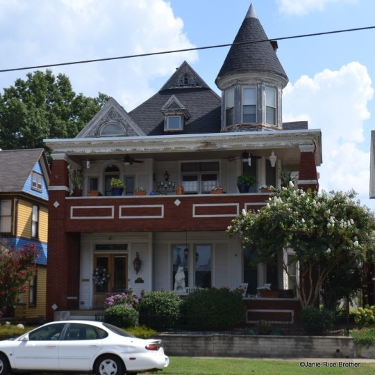 This frame Queen Anne-style house got a new porch in the 1930s, drastically altering its appearance.