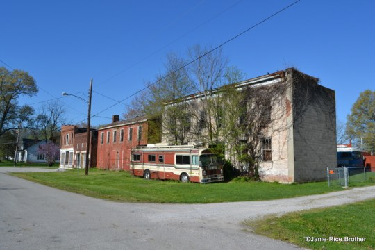 These four buildings comprise the abandoned commercial block of Dover's Market Street.