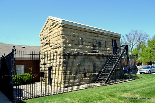 The stone jail in Bedford, Trimble County, Kentucky.