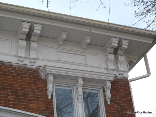 One of my favorite bracketed cornices is on this late-19th century brick house in Owingsville, Bath County, Kentucky.