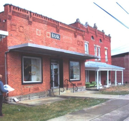 And two more lost buildings - a bank and former hotel in Salt Lick, Bath County, Kentucky.