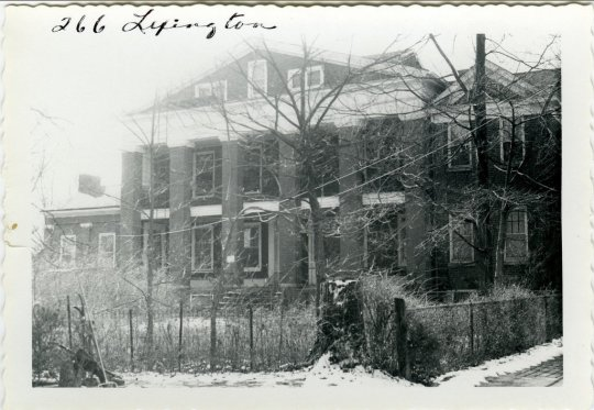 The Higgins Mansion, it s transformation underway. Box 2, Item 157, Carolyn Murray-Wooley collection on Lexington, Kentucky residential architecture, University of Kentucky, undated photograph