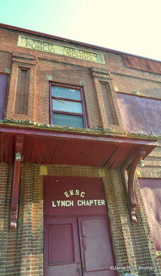 The original entryway to the Lynch Colored School.