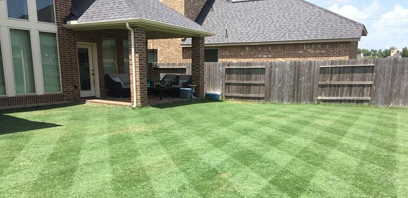 Lawn Striping Diagonal Style