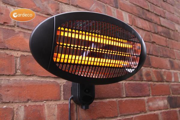 gardeco lectro electric wall mounted patio heater 2000w