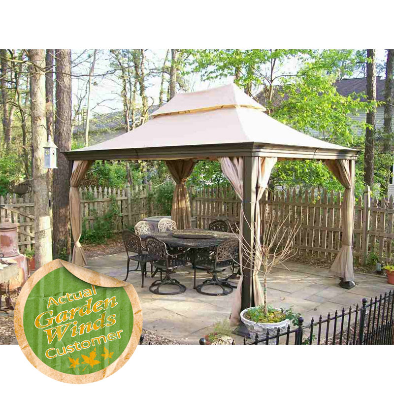 Fortunoff Pacific Casual 14 X 10 Gazebo Model Number 5LGZ4373 APFCSR Garden Winds