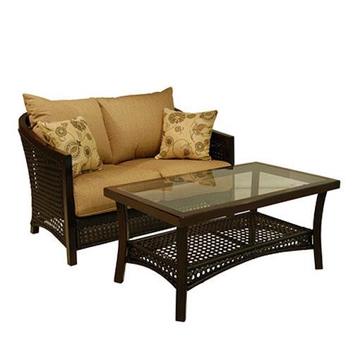 Cranston Love Seat Replacement Cushion Set Garden Winds