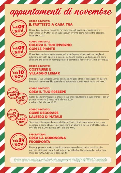 Calendario Eventi Novembre