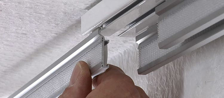 gardinia panel curtain rails