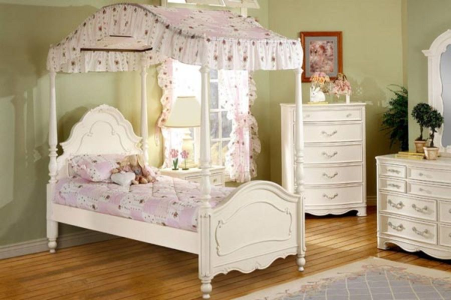Michelle Twin Canopy Bed at Gardner White Michelle Twin Canopy Bed from Gardner White Furniture